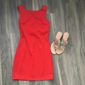 Bombshell Red Body-con Dress